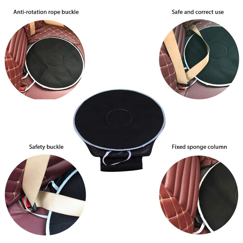 MOGOI Sedile Girevole per Auto Cuscino per Auto Girevole Antiscivolo Tappetino per Auto Automatico Disco Rotondo 360 Cuscinetti per sedie rotanti Base Traspirante Girevole Lavabile Leggero Flessibile