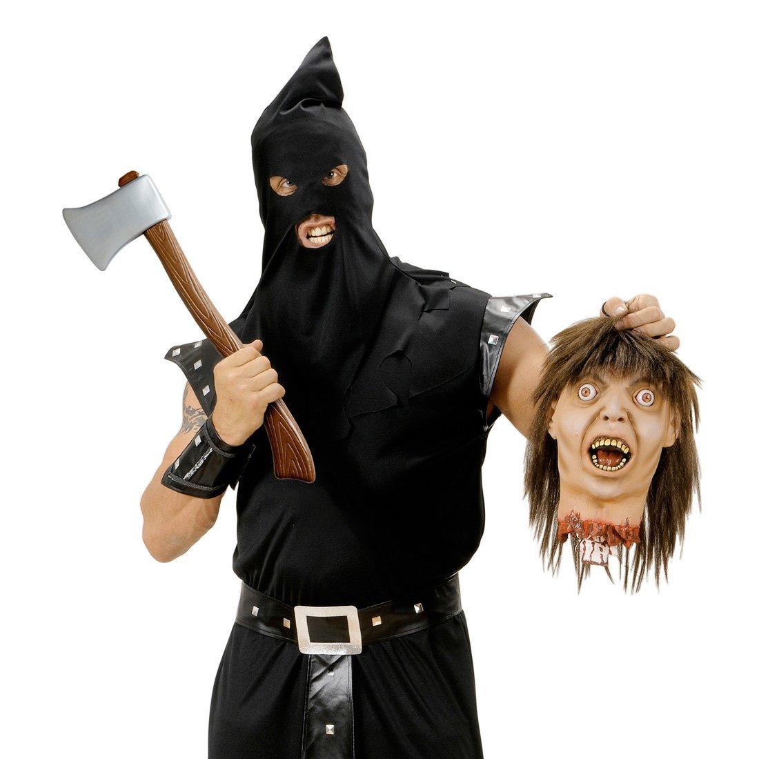 Halloween accetta ascia da guerra 60 cm assassino arma zombie scure arma di scena taglialegna splatter giocattolo - 60 cm NET TOYS
