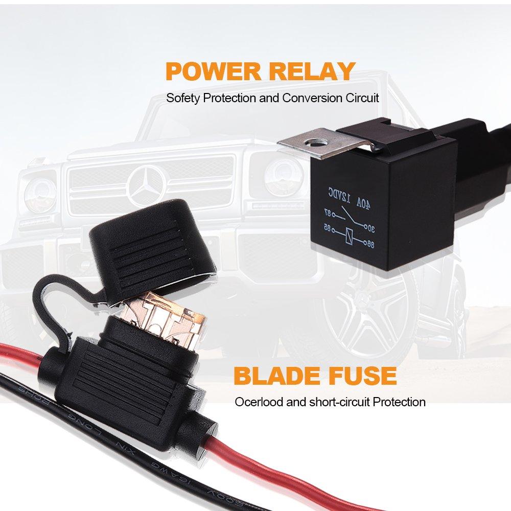 Suv Atv Rv Wiring Harness Led Work Light Bar 12v Rocker Switch Controller Kit
