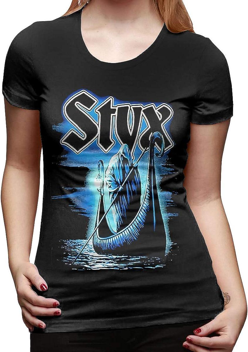 Styx Shirt Womens T Shirt O Neck Short Sleeve Tees Tops Fashion