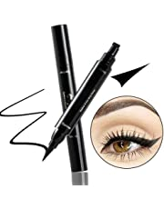 Eyeliner Stamp Wingliner, Trippix Double-Sided Pens Stamp Eyeliner Tool, Waterproof, Long-Lasting, Smudge-Proof, No Dipping Required 2 in 1 Eye Makeup Seal Stamp Tool for Wing or Cat Eye, Black