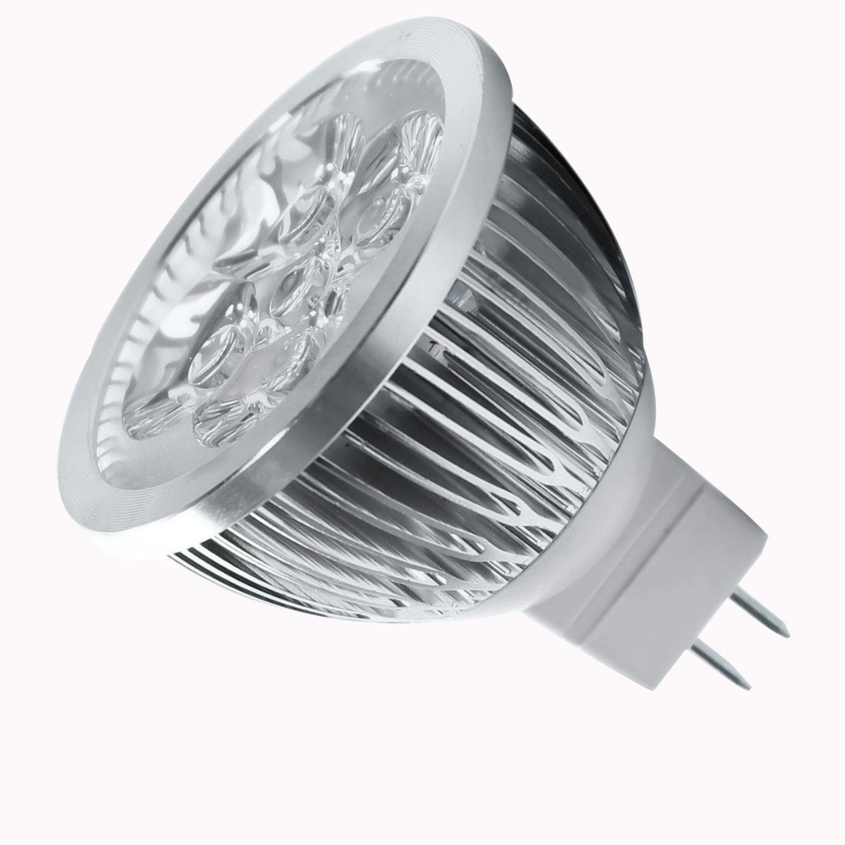 TOOGOO(R) 4W Dimmable MR16 LED Bulb/3200K Warm White LED Spotlight/50 Watt Equivalent Bi Pin GU5.3 Base/330 Lumen 60 Degree Beam Angle for Landscape, Accent, Recessed, Track Lighting
