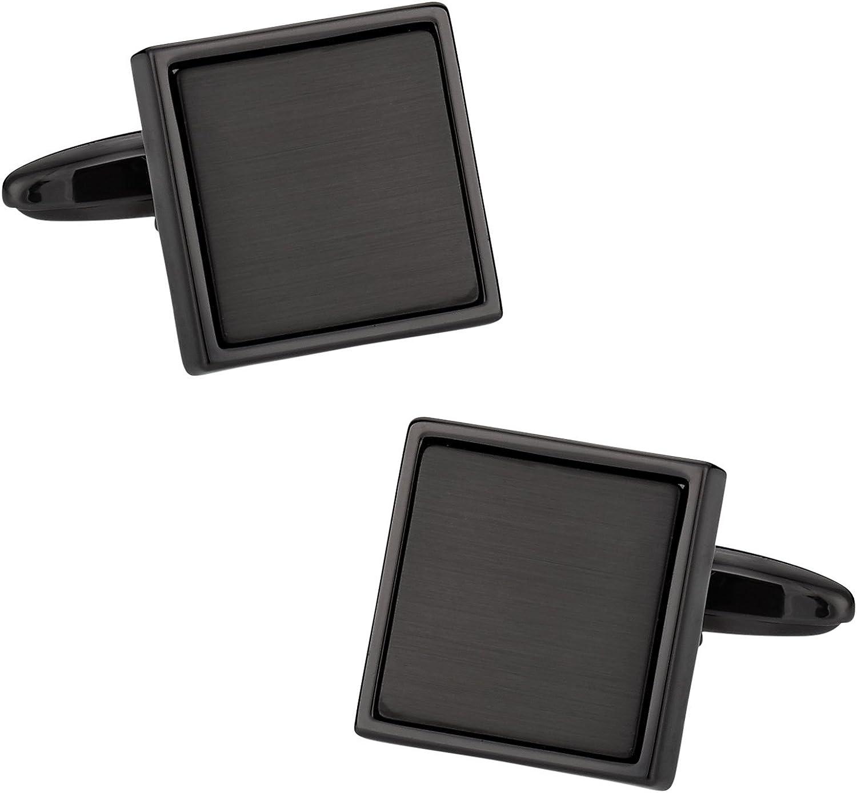 Cuff-Daddy Gunmetal Blacked Out Cufflinks with Presentation Box
