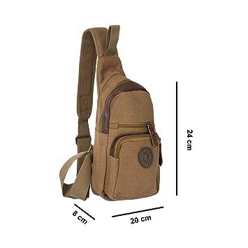 9a223c935906 AllExtreme Canvas Sling Bag Canvas Chest Shoulder Backpack Water Resistant  Vintage Carry Cross Body Messenger Bag