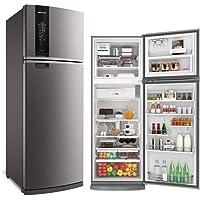 Geladeira Brastemp Frost Free Duplex 478 litros cor Inox com Freezer Control Advanced 110V