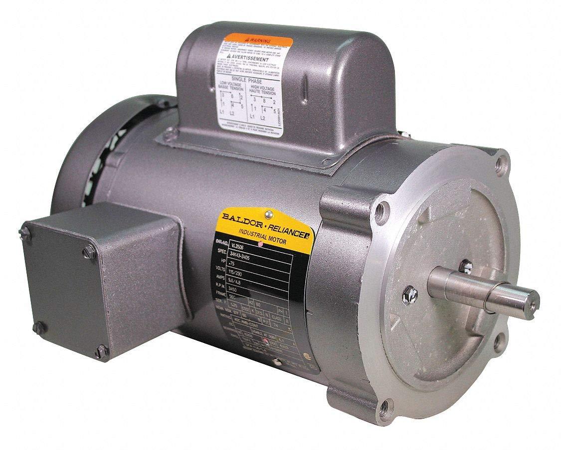 Motor, 3/4 HP, 3450 RPM, 115/230V, 56C, TEFC