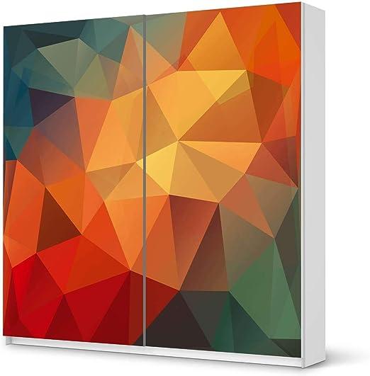 Muebles-pegatinas IKEA brilliant armario 201 cm Altura - puerta corredera/diseño adhesivo polígono/Autoadhesivo de protección: Amazon.es: Hogar