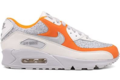 cheap for discount 6f1c3 9ed50 Image Unavailable. Image not available for. Color  Nike Air Max 90 quot Speckle  Camo Womens Orange Gray Leather Running Shoes ...