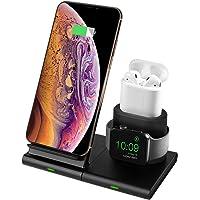 Hoidokly Cargador Inalámbrico,[3 en 1] Soporte de Carga para iPhone y Apple Watch, Base de Carga Rápida para Apple Watch Series 1/2/3/4/5, AirPods, iPhone 11/11 pro/11 Pro MAX/XS MAX/XR/X/8 Plus