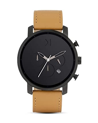 6c6e14bd1504a MVMT Watch Classic Black Tan Leather  Amazon.co.uk  Watches