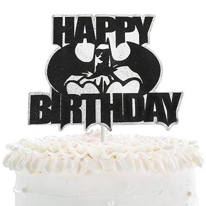 Incredible Batman Happy Birthday Cake Topper Superheroe The Dark Knight Personalised Birthday Cards Paralily Jamesorg