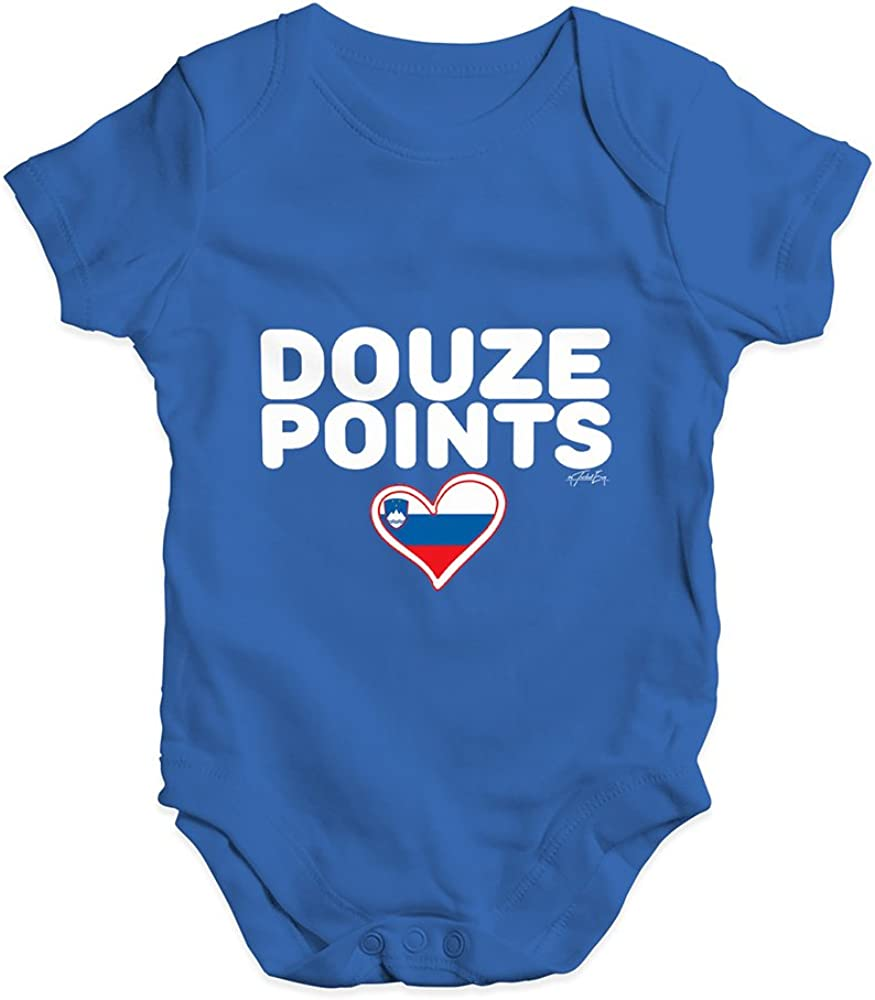 TWISTED ENVY Douze Points Slovenia Baby Unisex Printed Infant Bodysuit Baby Grow