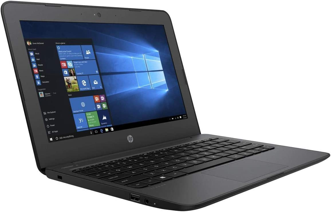 "HP Lightweight Stream Pro 11.6"" Notebook (Intel Celeron N3060, 4GB Ram, 64GB SSD, Intel HD Graphics, Windows 10Pro) Classic Black- Only 2.58 Ibs"