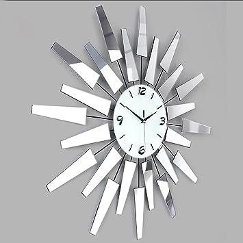 Dayweeky Relojes y Relojes de Arte Creativo Reloj de pared simple de la sala de estar de moda Reloj de bolsillo moderno estilo europeo de estilo decoración: ...