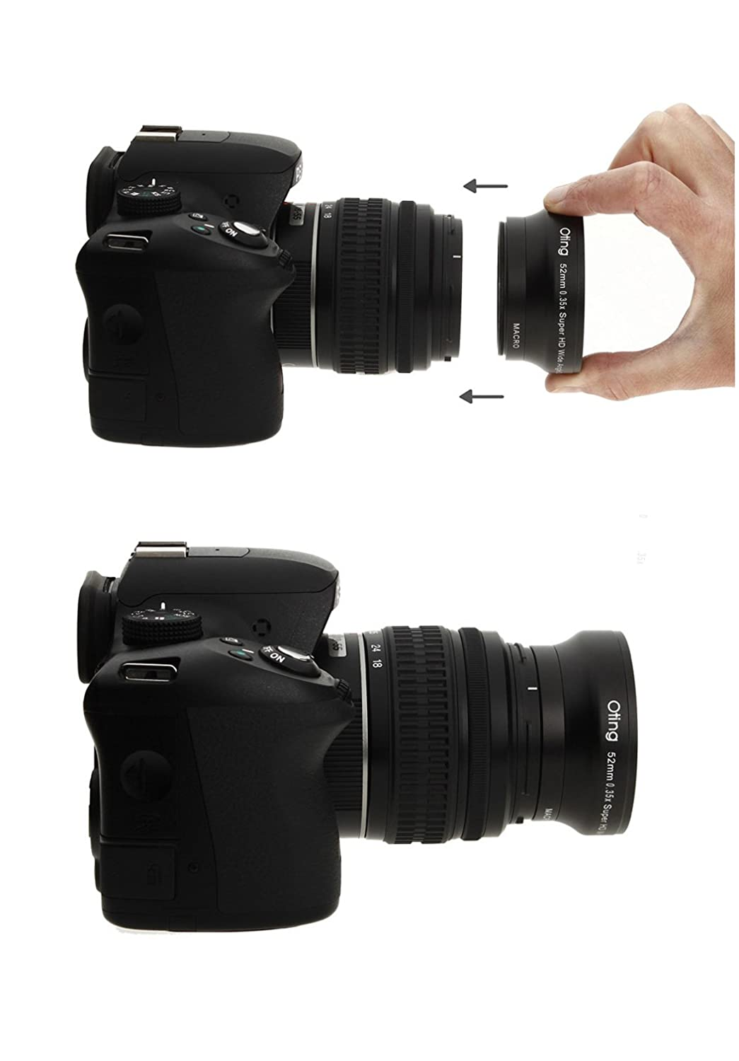 650D 600D 30D 550D Fisheye Lens 0.35X with Macro for Canon EOS 1100D 350D 300D 10D 400D 500D 50D 5D 1D 20D 7D 40D 450D 60D 6D 1000D 100D