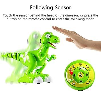 Danser Lumière Intelligent Jouet Vaporisateur Rc Et Dinosaure Multifunctional À Télécommande Son Electrique Dinosaures Musique Électrique FJl1Kc