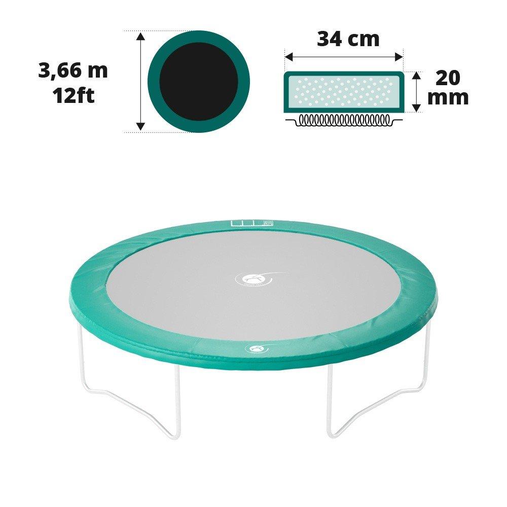 ventas directas de fábrica Cojín de de de protección verde para trampolín 3 M66 de Diametre  forma única