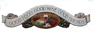 product image for Piazza Pisano Art by Al Pisano Kitchen Door Topper Good Food Good Wine Good Friends