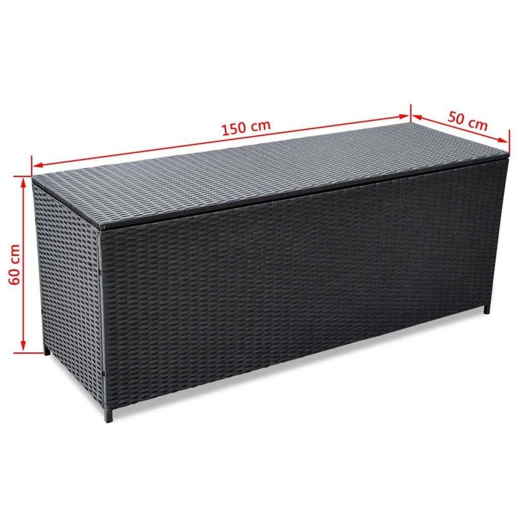 Alek...Shop Container Outdoor Storage Poly Rattan Entryway Chest Bench Garden Box Patio Pool Deck Bench Organizer