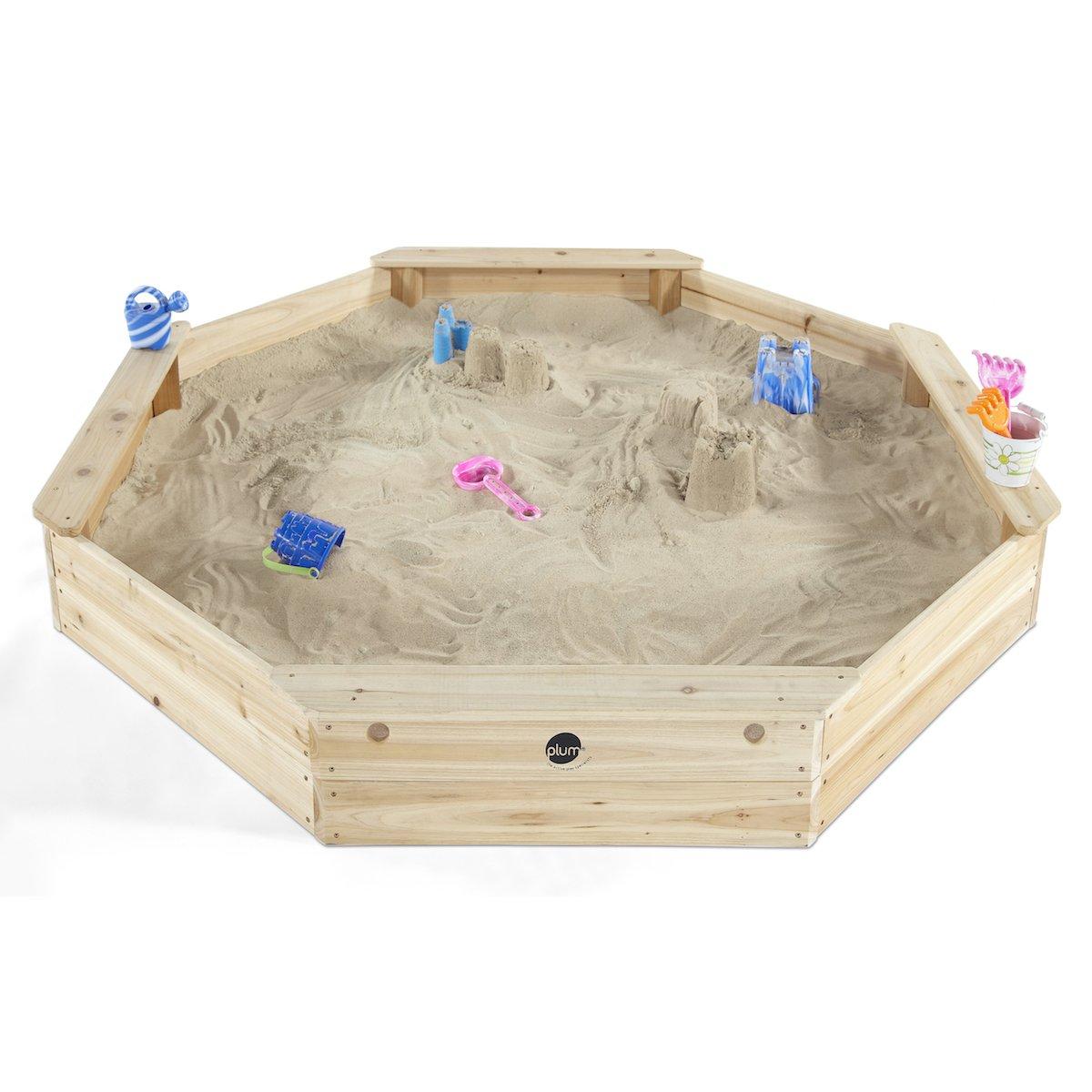 Plum - 25058  - Jeu de plein air - Bac à sable octogonal géant en bois