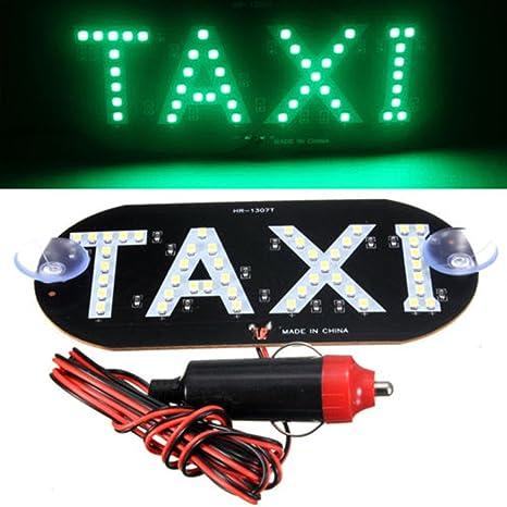 HMOCNV Luz de techo de taxi con 45 ledes, 12 V, con base ...