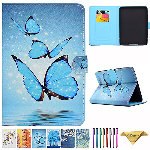 Kindle Paperwhite Case - JZCreater Folio PU Leather Case Cover with Auto Wake/Sleep for All-New Amazon Kindle Paperwhite (Fits 2012 2013 2015 and 2016 All-new 300 PPI Versions), Butterfly