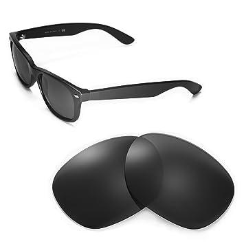Walleva Ersatzgläser für Ray-Ban RB3025 Aviator Large Metal 55mm Sonnenbrille - Mehrfache Optionen (Schwarz - polarisiert) rOgi9dvni