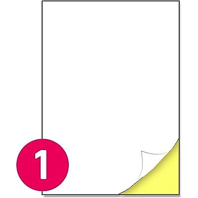 210 x 297 mm, 25 hojas, A4 Etiqueta Adhesiva Blanca Pegatina - 1 etiqueta por hoja