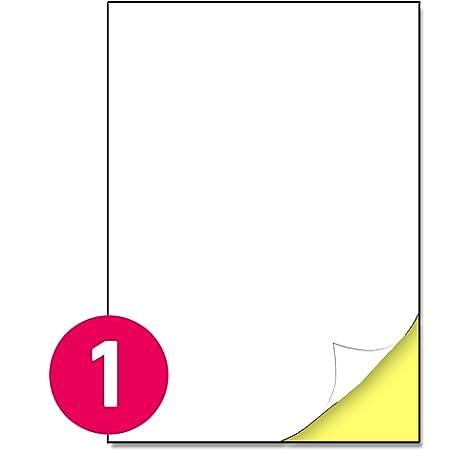 65 hojas Glossy Sticker Paper, A4 autoadhesivo Sticker etiqueta de ...