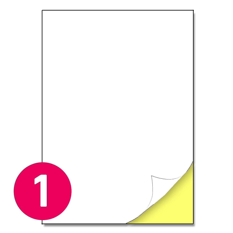 24 etichette per foglio 70 x 36 mm A4 etichette adesive bianche opaco 200 fogli 4800 etichette