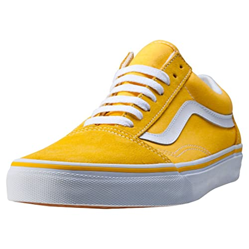 ccdc4b3c9bb8b0 Vans Unisex Old Skool (Suede and Canvas) Spectra Yellow and True White  Leather Sneakers