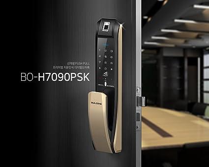 buildone h-7090psk mando a distancia de huellas dactilares Push Pull cerradura de la puerta
