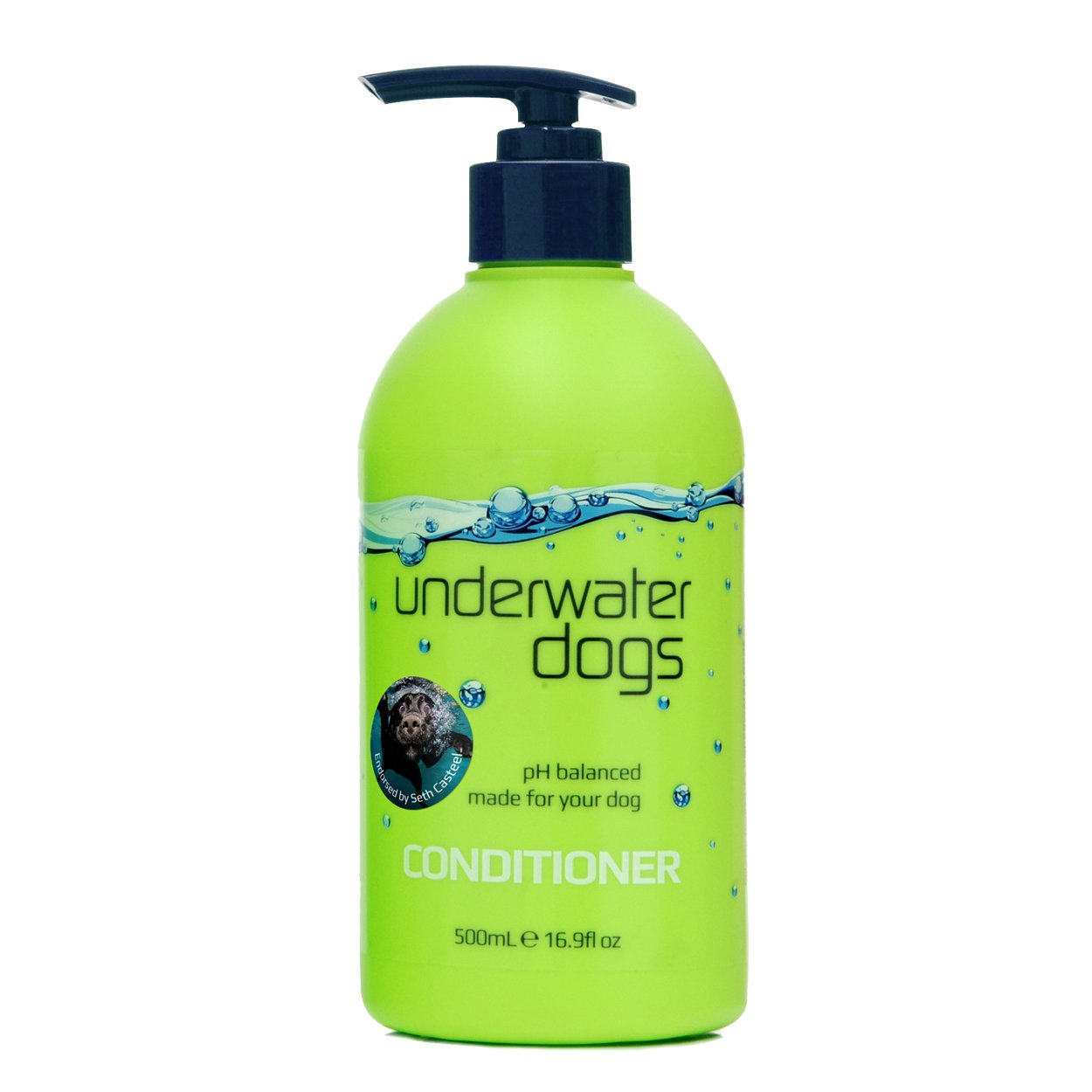Underwater Dogs Conditioner for Itchy Skin - 16.9 Fluid Ounces of Soap-Free, pH Balanced, Moisturizing Dog Conditioner Detangler - Coconut Fragrance by Underwater Dogs (Image #1)