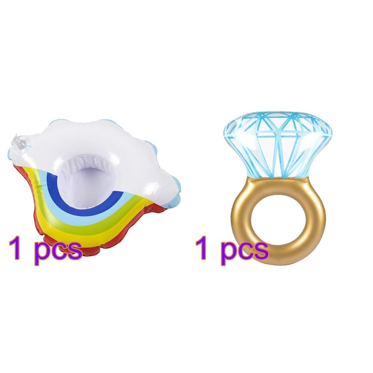 Inflable gigante diamante anillo piscina flotador balsa ...