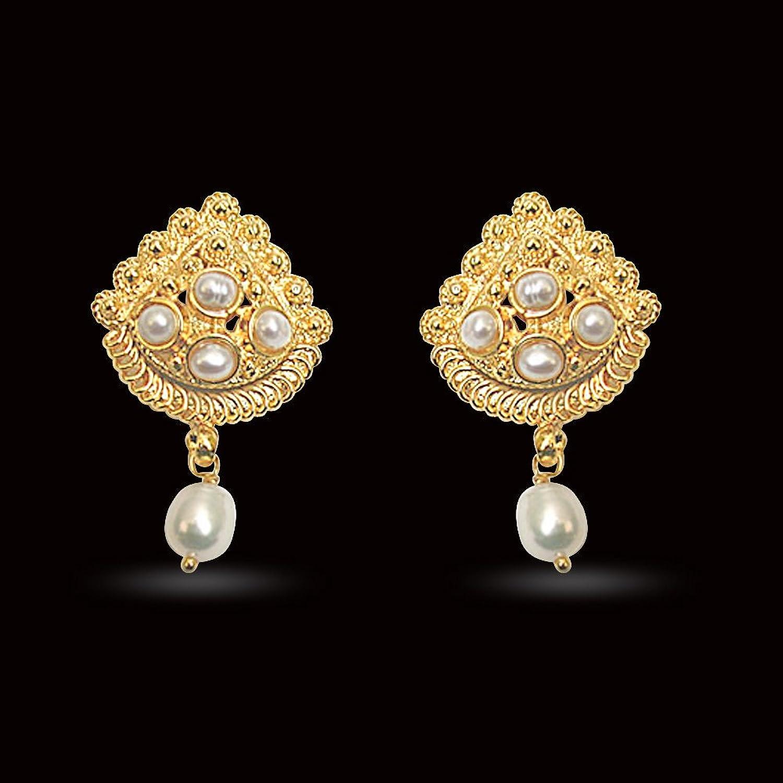 Buy Surat Diamonds Gold-Plated Stud Earring For Women Gold - SE140 ...