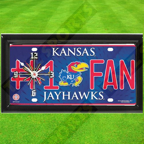 KANSAS JAYHAWKS NCAA CLOCK - BY TAGZ SPORTS