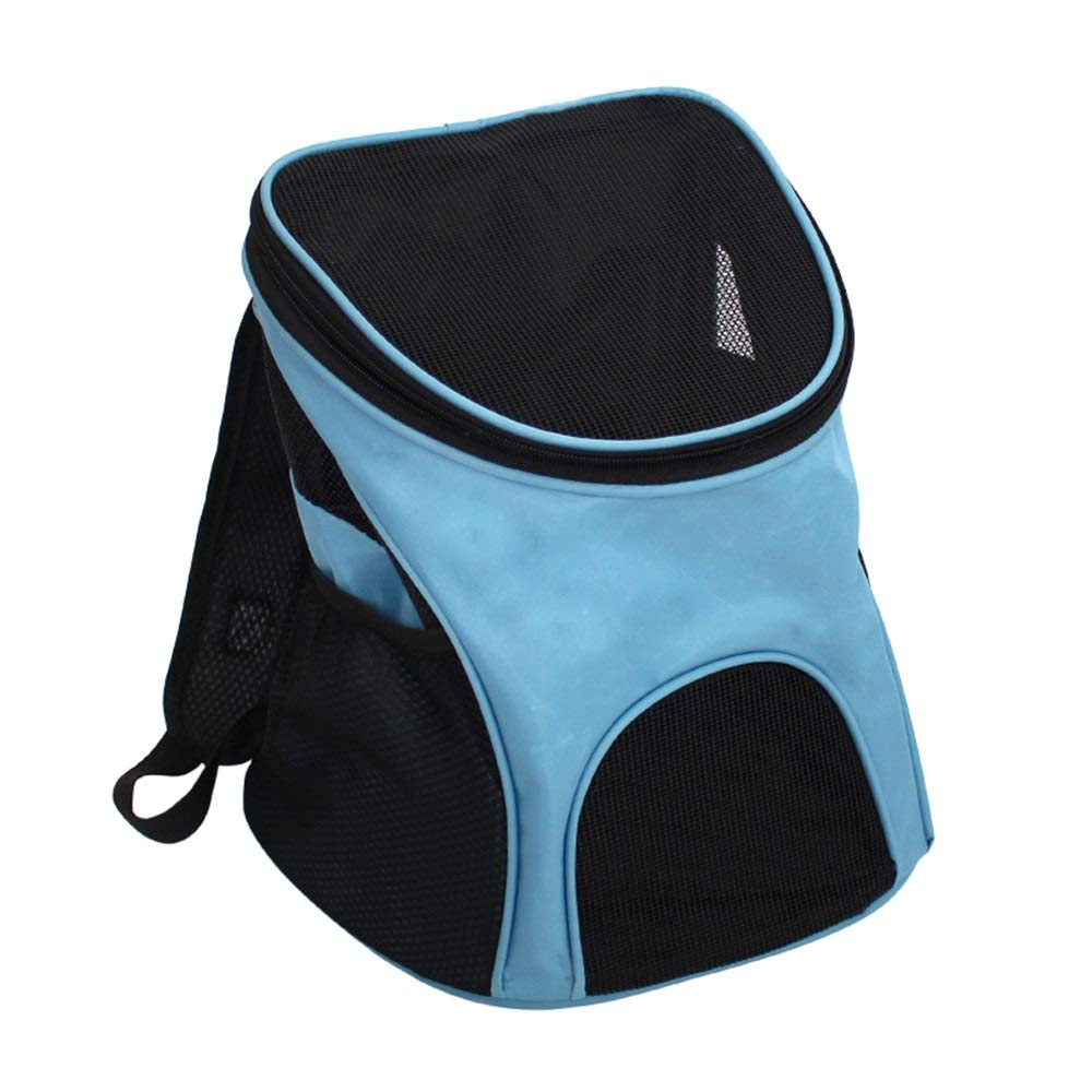 bluee MPet Backpack Outgoing Carrying Case Chest Shoulder Bags Handbag Dog Bags Cat Cage (color   bluee, Size   M)