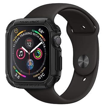 cheap for discount af129 c2d78 Spigen [Tough Armor Apple Watch Series 4 Case (44mm) [Black] TPU PC Dual  Layer Hybrid Slim Protection Resilient Shock Absorption Scratch Resistant  ...