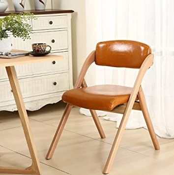 Chair QL Chaise Pliable Restaurant Chaises Moderne En Bois Massif Pliant Dordinateur Pu