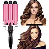 Ausale Curling Iron 3 Barrel Hair Waver Stylish Fast Heating Hair Curlers Temperature Adjustable Ceramic Beach Waver…
