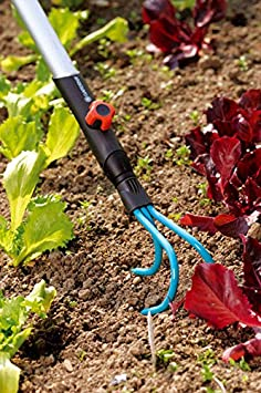GARDENA Combisystem 3135-20 apto para todos los mangos combisystem ancho de trabajo 10/cm Cultivador recomendado para mullir y airear la tierra para suelos blandos y medio duros
