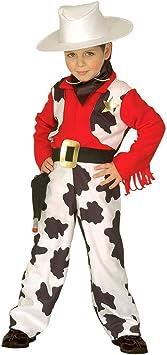 NET TOYS Disfraz Cowboy de niño Vaca Rodeo Oeste Carnaval ...