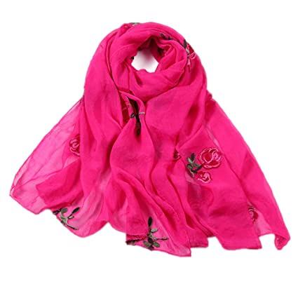 4d65f2997 Chic-Dona Women Scarf Spring Summer Silk Scarves Shawls and Wraps Lady  Pashmina Beach Stoles