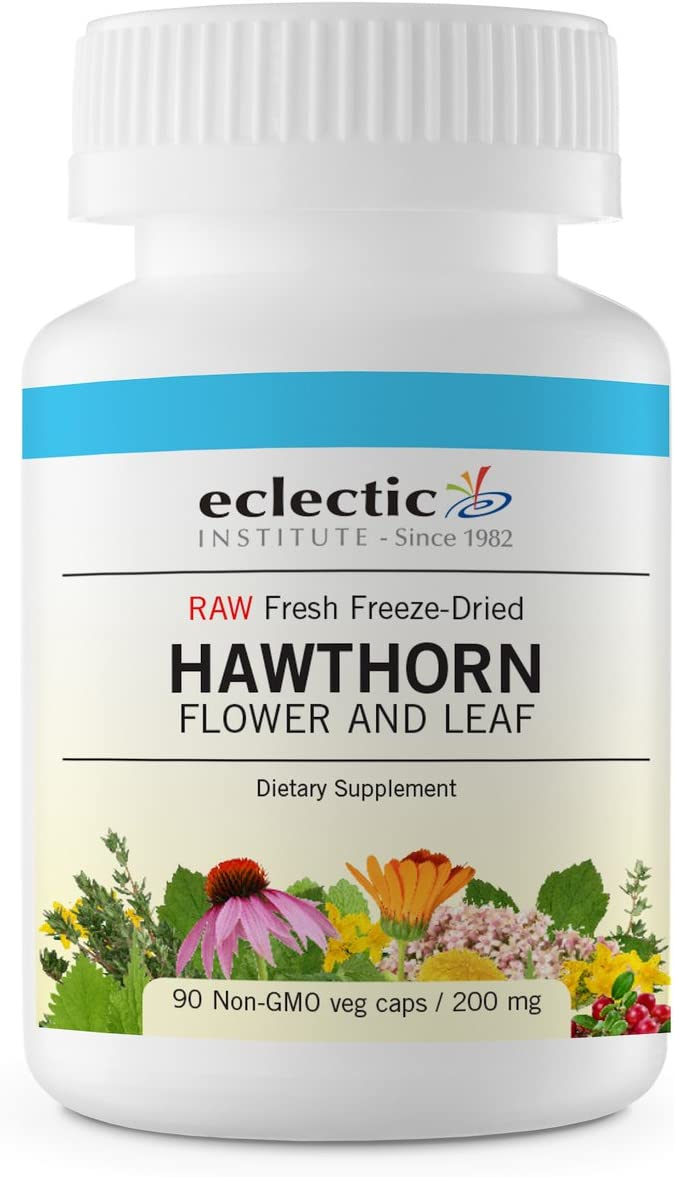 Eclectic Hawthorn Flower & Leaf Freeze Dried Vegetables, Blue, 90 Count