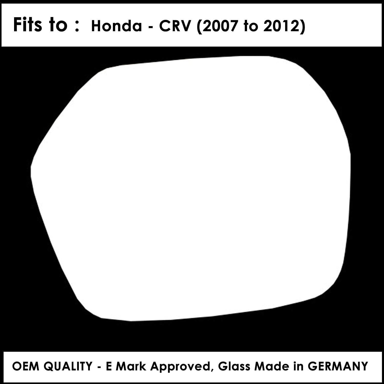 HND-CV 2007 to 2012 Silver Door Mirror Glass LH Passenger Side