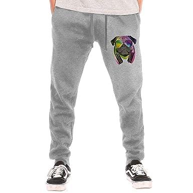 e6eb0e77 DJ Pug Drawstring Waist, 100% Cotton, Elastic Waist Cuffed, Jogger Sweatpants  at Amazon Men's Clothing store: