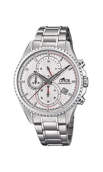 09af717b2af5 Lotus Watches Reloj Cronógrafo para Hombre de Cuarzo con Correa en Acero  Inoxidable 18526 1  Amazon.es  Relojes