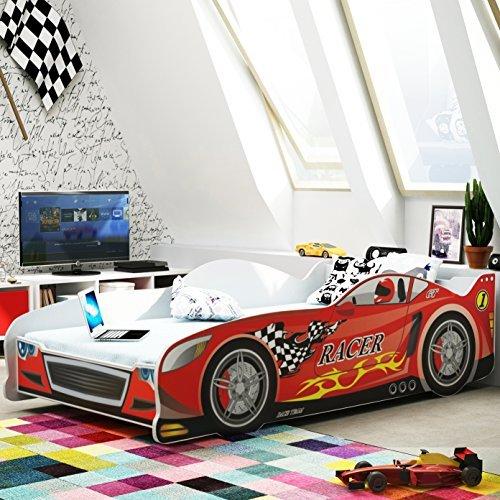 Letto a forma di macchina per bambini 160x80 con materasso letti e materassi - Letto per bambini 160 80 ...