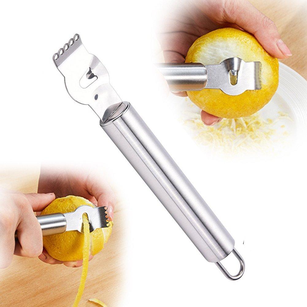 WHOSEE Stainless Steel Lemon Zester Citrus Lime Orange Zest PeelingTool Fruit Peelers