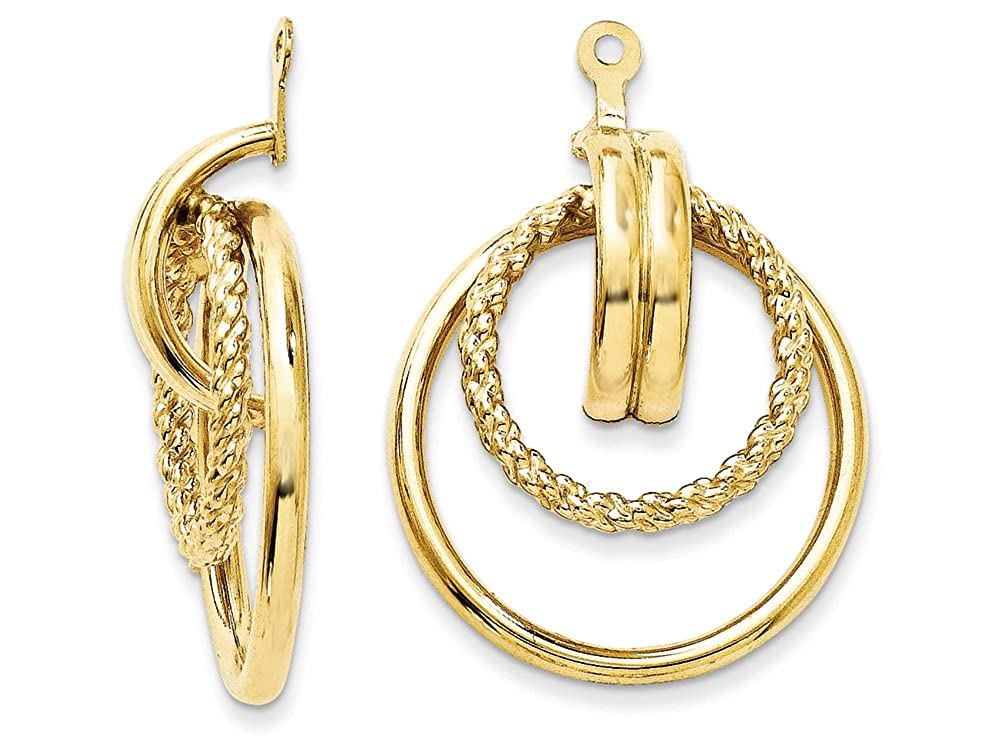Finejewelers 14k Yellow Gold Polished and Twisted Fancy Earring Jackets